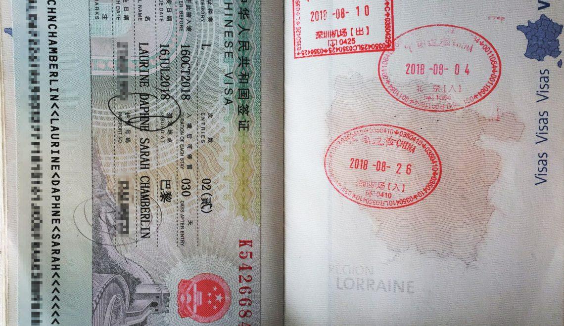 visa-touriste-chine-passeport